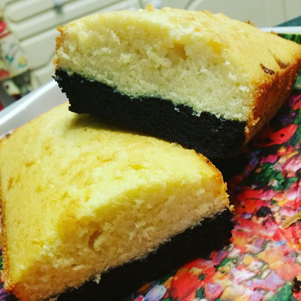 Брауни -маслен кейк